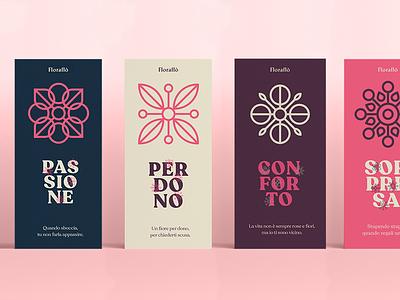 Flower Brand Identity palette brand flower icon typography design illustration branding logo