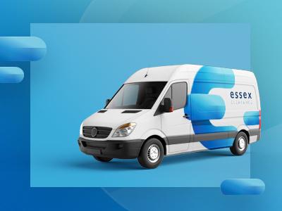 Branding - Essex Clearance blue graphic website design branding