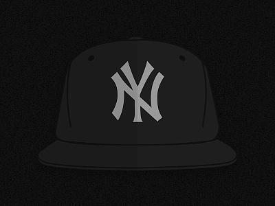 H.O.V. icon illustration hov flat cover jay-z blog vector hat black yankees