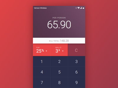 Daily UI - Day 4: Calculator design app flat minimal android 004 mobile calculator ui daily dailyui