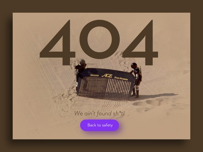 Daily UI - Day 8: 404 Page design web 008 error 404 ui daily dailyui