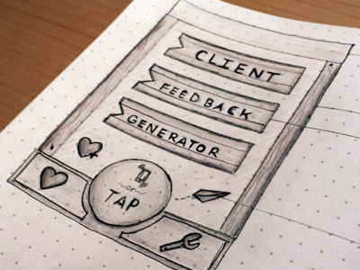 Client Feedback Generator design ui ux app iphone wireframe sketch interface concept