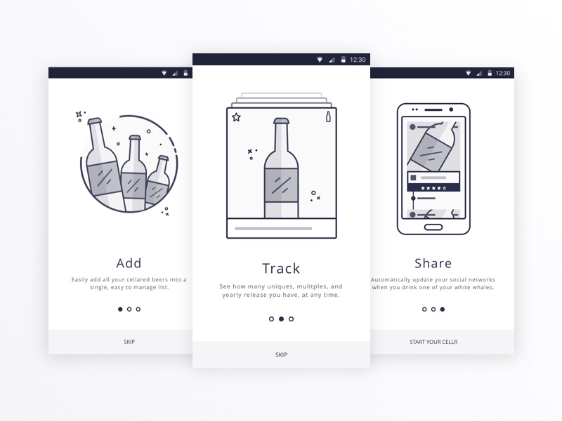 Drink Up Onboarding PSD Freebie