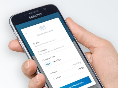 Transaction Detail… phone ui app ios mobile banking bank fintech finance android