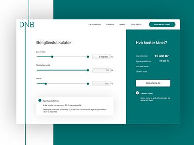 Daily UI Challenge #004 - Calculator norwegian ui mortgage calculator calculator dailyui daily challenge card