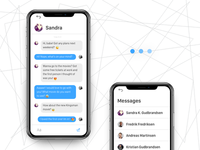 Daily UI Challenge #013 - Direct messaging ui iphone x iphone messaging direct messaging contacts dailyui daily challenge app