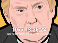 Daily UI Challenge #014 - Countdown timer sketchapp trump challenge timer countdown dailyui daily