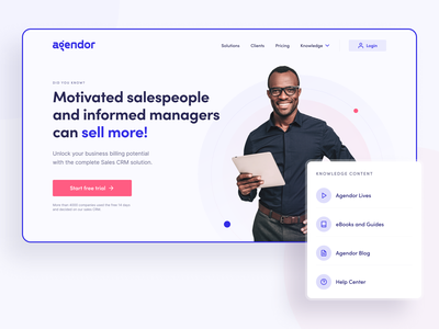 Agendor - Hero Section digital product product landingpage landing page home page ui home page hero hero section vector icon minimal typography flat design web daily ui ui