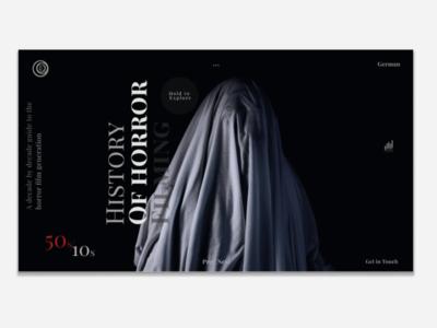 Horror filming history website horror movies films ux ui design minimalism web  design