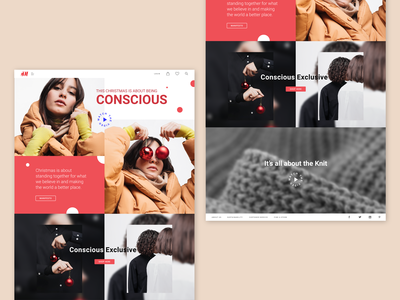H&M / This Christmas, Go Conscious Website / Homepage