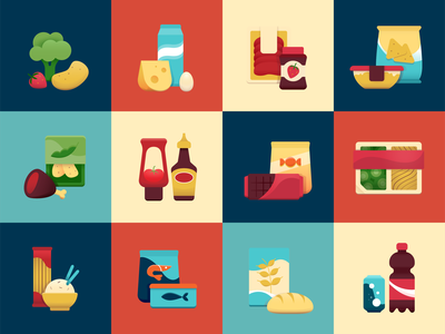 Food icons icon set icon branding illustrator vector softdrink wheat fish rice pasta microwave chocolate sauces meat replacement meat snacks sandwich diary vegetable