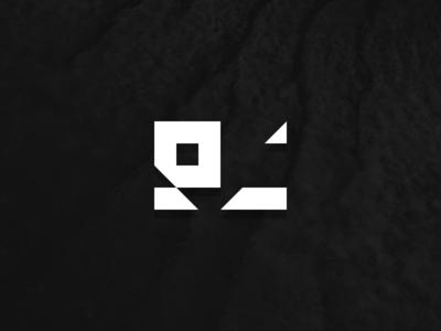 EC Lettermark negative space branding clean minimalist geometric triangle letter c letter e mark logo