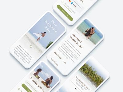 Coconut me !® — Mobile screens beauty health hawaii nature ui web branding ux island travel tropical coconut