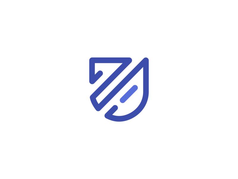 Assurdeal — Logo mark fintech artificial intelligence trading startup symbol logomarks icon branding insurance company tech data blue outline shield ai insurance logo