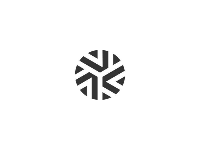 Snowball — Logo mark minimalist vector illustration flake circle crossroad hub connection snowball ball ice snow symbol icon logomark mark logo branding