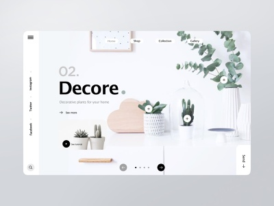 Decore webdesign furniture interior landingpage store website