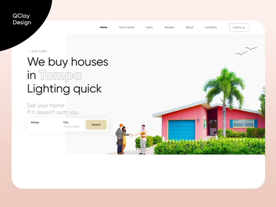 🌴 Real Estate Landing Page motion corporate ui minimalist houses landing animation landing page company tranding realtor investment development qclay broker sale real estate real estate agency