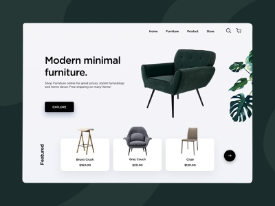 Furniture website ui web design landingpage landing store shop ecommerce furniture website furniture store furniture