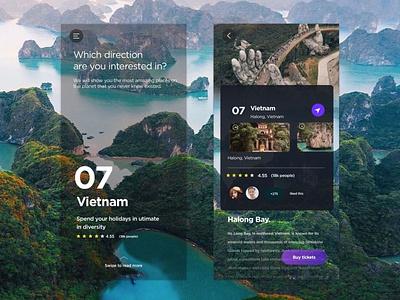 Travel app ui app design vietnam travel agency traveling tourism travel tours