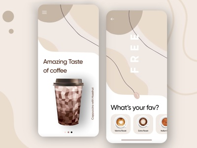 """Coffee Shop"" App ux app application uiux best design product starbucks food delivery coffee app coffee bean coffee shop coffeeshop coffee app design"