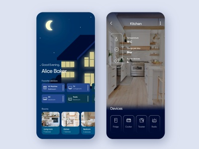 Smart home app application bestdesigner uiuxdesign smart app design inspiration design trends best design appdesign user experience userinterface usability smart house night home app illustration smart home smarthome