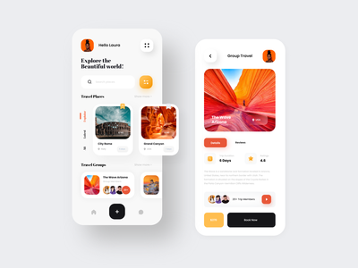 Travel App design vocation category uiux ux ui feed location web mobile app traveling travel