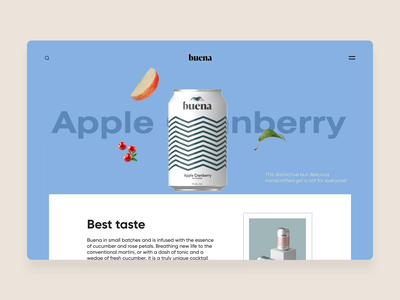 Buena Store Interaction app landing trend scroll clean smooth list cart website web best design application shop ecommerce commerce store 3d motion graphics animation