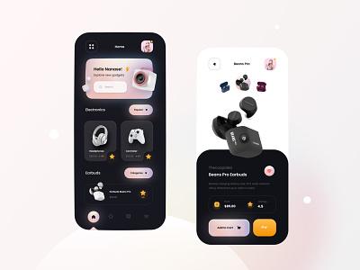 ESTORE Concept ui ux app app design mobile design gadgets electronics ui store uxdesigner uidesigner designer best agency uiux store