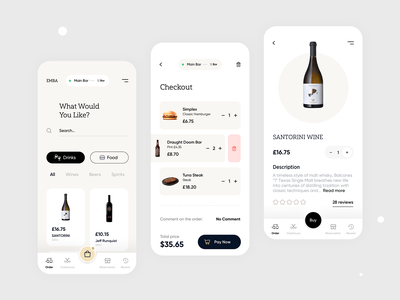 🚚 Delivery App qclay best trend ux application product page wine app design mobile products cart order menu delivery app ui