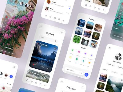 Traveller's Community App discover trip travel best design appdesign club network social uiux clean minimal qclay
