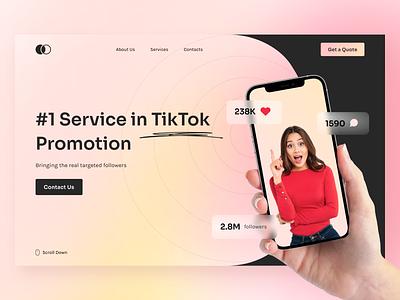 Tiktok Promotion Service Landing Page web main landing page solution digital branding qclay tool service corporate promo agency promotion landing tiktok