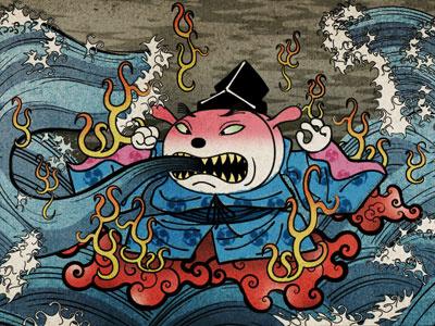 die niedlichen: Hinomaru analog-digital 2d comic