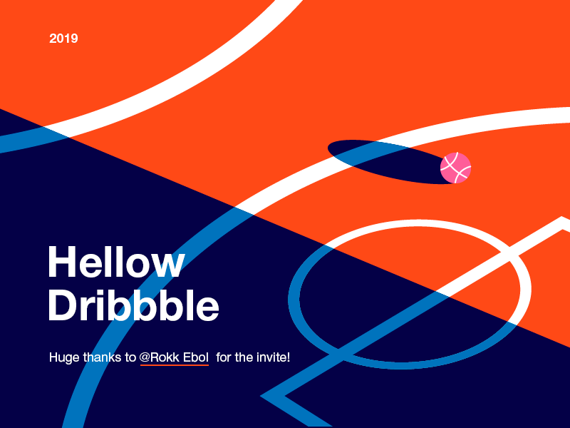 Hellow Dribbble minimal art illustrator hellow dribbble