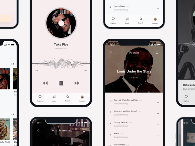 L'euphorie Music UI Kit freebie 🎺 app ios mobile ui mobile application minimal minimalism sketch ux network music shop jazz music app music player freebie free app