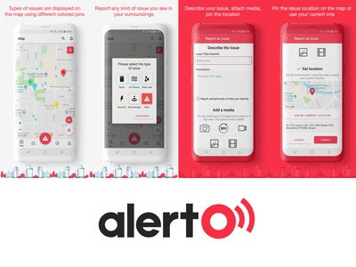 Mobile UI for Alerto Android App