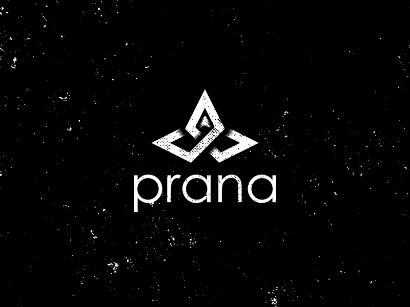 Prana Logo Style Swap typography type white black prana texture distressed metal viking