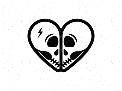 Heart Skulls valentines day heart skull illustration vector art graphic design