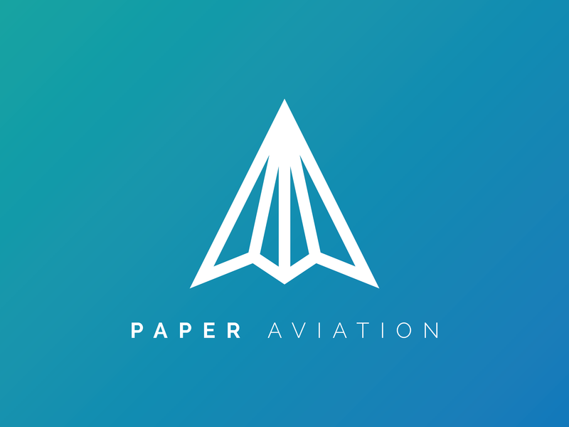 Paper Aviation minimalist minimalism minimal aviation paper airplane airplane paper logo illustration vector art graphic design