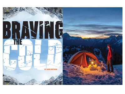 """Braving the Cold"",  Magazine feature spread"