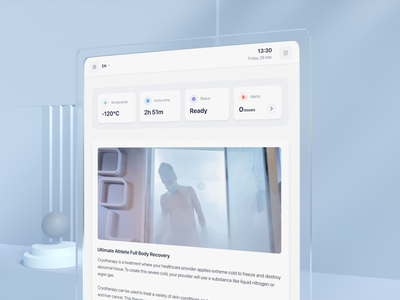 Cryo-treatment inside an app app blender interface chamber uxui ux motion music treatment 3d animation visual motion graphics graphic design 3d animation ui
