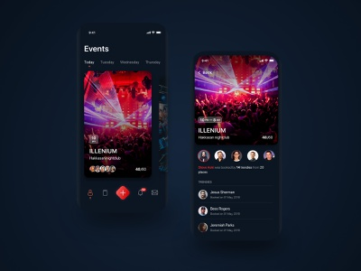Events App ios app ui ux mobile cards event app event