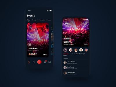 Events App ios app ui ux mobile cards event app event
