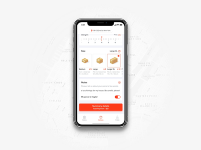 Mobile Payment summary details verification payment mobile ui ux sketch product delivery mobile app after effects animation