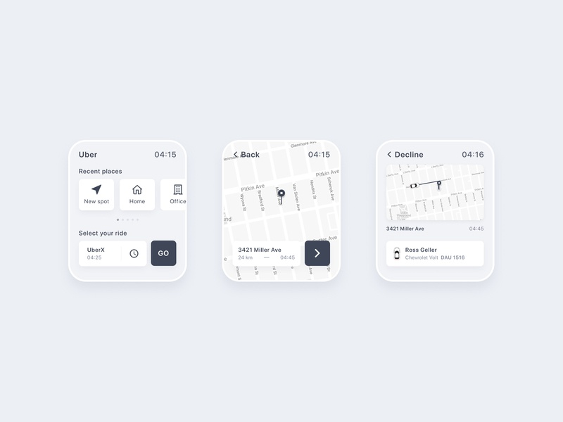 Uber for Apple Watch uber design apple watch apple watch app cab taxi ux ui concept uber
