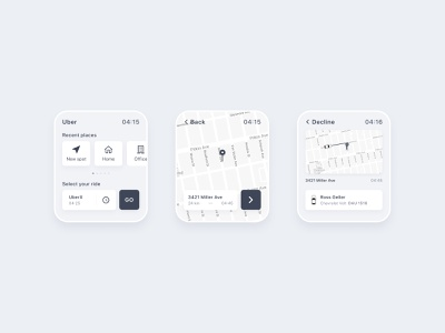 Uber for Apple Watch uber design apple watch apple watch app cab taxi ux ui concept uber