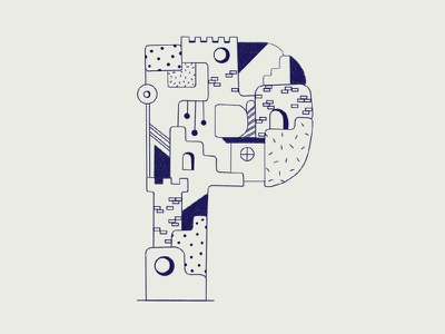 36days_P type letter p design brushes 36daysoftype 36days-p