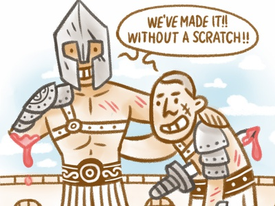 Can One Person Make a Difference? Detail 1 gladiator history character design information comics infographic illustration