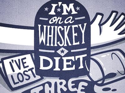 Whiskey typography lettering vector poster handmade