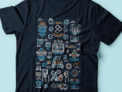 Shift Forward T-Shirt portugalt galaxy star wars pop culture big data technology startup silk screen t-shirt typography digital art vector