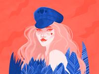 Girl hiding behind leaves🍃   grl pwr